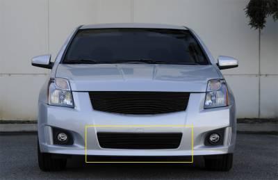 Grilles - Custom Fit Grilles - T-Rex - Nissan Sentra T-Rex Bumper Billet Grille Insert - All Black - 25764B