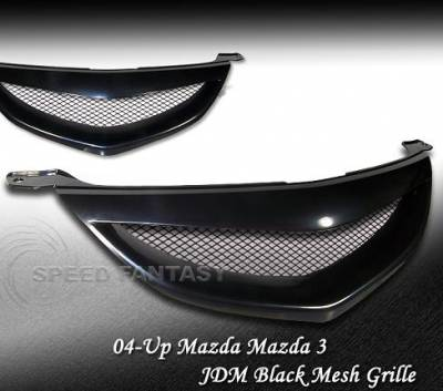 Grilles - Custom Fit Grilles - Speed - JDM Black Euro Grille 4dr