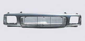 Grilles - Custom Fit Grilles - Street Scene - GMC S15 Street Scene Grille Shell with 4mm Billet Grille - Sealed Beam Style - 950-75517