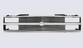 Grilles - Custom Fit Grilles - Street Scene - Chevrolet CK Truck Street Scene Chrome Grille Shell with 4mm Billet Grille - 950-75537