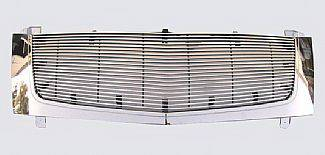 Street Scene - Cadillac Escalade Street Scene Chrome Grille Shell with 4mm Billet Grille - 950-75539