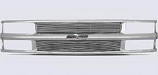 Grilles - Custom Fit Grilles - Street Scene - Chevrolet CK Truck Street Scene Chrome Grille Shell with 4mm Billet Grille - 950-75545