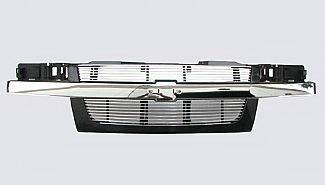Grilles - Custom Fit Grilles - Street Scene - Chevrolet Colorado Street Scene Grille Shell with 4mm Polished Billet Grille Insert - 950-75549