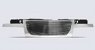 Grilles - Custom Fit Grilles - Street Scene - GMC Canyon Street Scene Chrome Grille Shell with 4mm Polished Billet Grille - 950-75568