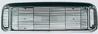 Grilles - Custom Fit Grilles - Street Scene - Ford Superduty Street Scene Chrome Grille Shell with 4mm Polished Billet Grille - 950-75572