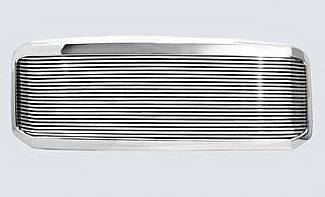 Grilles - Custom Fit Grilles - Street Scene - Ford F350 Street Scene Chrome 1 Opening Shell with 8mm Billet Grille - 950-75580
