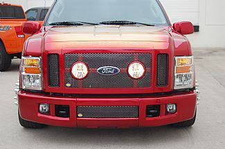 Grilles - Custom Fit Grilles - Street Scene - Ford Superduty Street Scene Black Chrome Grille Generation 1 Bumper Cover - 950-76839