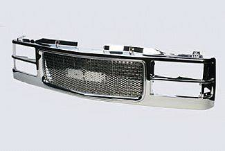 Grilles - Custom Fit Grilles - Street Scene - GMC CK Truck Street Scene Chrome Grille Shell with Chrome Speed Grille - 950-78565
