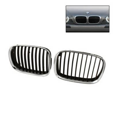 Spyder Auto - BMW 7 Series Spyder Front Grille - Black - GRI-CH-BE3899-BK