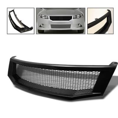 Grilles - Custom Fit Grilles - Spyder Auto - Honda Accord 4DR Spyder Front Grille - Black - GRI-HA08-BK