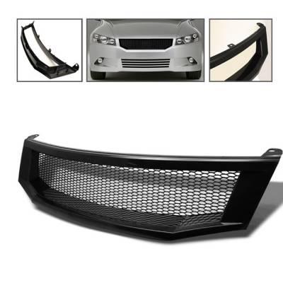 Grilles - Custom Fit Grilles - Spyder - Honda Accord 4DR Spyder Front Grille - Black - GRI-HA08-BK