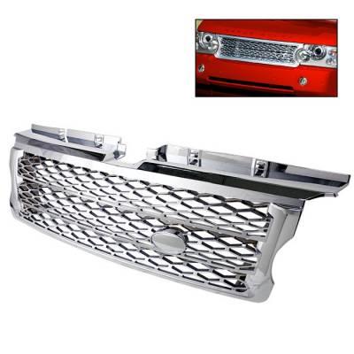 Grilles - Custom Fit Grilles - Spyder - Land Rover Range Rover Spyder Front Grille - Chrome - GRI-LRRS07-C