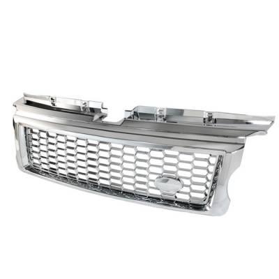 Grilles - Custom Fit Grilles - Spyder - Land Rover Range Rover Spyder G2 Front Grille - Chrome - GRI-LRRS07-G2-C