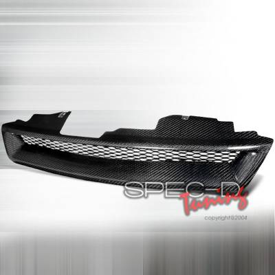 Grilles - Custom Fit Grilles - Spec-D - Honda Accord Spec-D Type R Style Front Hood Grille - Black - HG-ACD94CFTR-SD