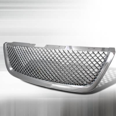 Grilles - Custom Fit Grilles - Spec-D - GMC Acadia Spec-D Mesh Grille - Chrome - HG-ADA07C