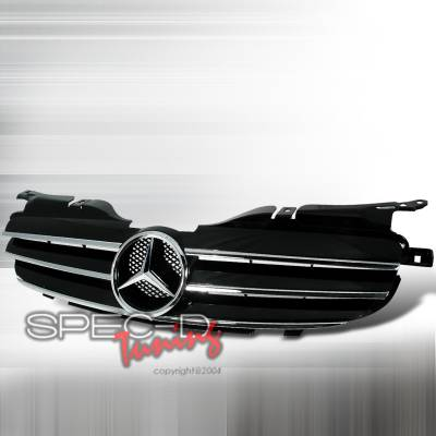 Grilles - Custom Fit Grilles - Spec-D - Mercedes-Benz SLK Spec-D Grille - Black - HG-BR17098JMCL
