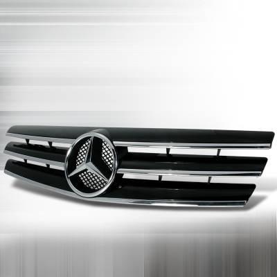 Grilles - Custom Fit Grilles - Spec-D - Mercedes-Benz S Class Spec-D Grille - Black - HG-BW12990JMCL
