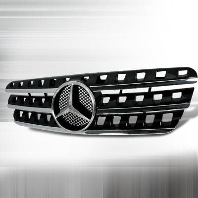 Grilles - Custom Fit Grilles - Spec-D - Mercedes-Benz ML Spec-D AMG Grille - Black - HG-BW16396AMG-BK