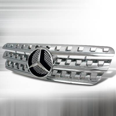 Grilles - Custom Fit Grilles - Spec-D - Mercedes-Benz ML Spec-D AMG Grille - Chrome - HG-BW16396AMG-C