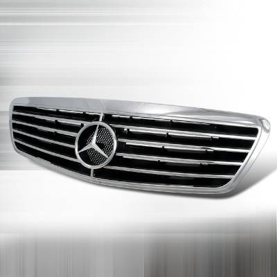 Grilles - Custom Fit Grilles - Spec-D - Mercedes-Benz S Class Spec-D Front Hood Grille - Chrome - HG-BW22099CA