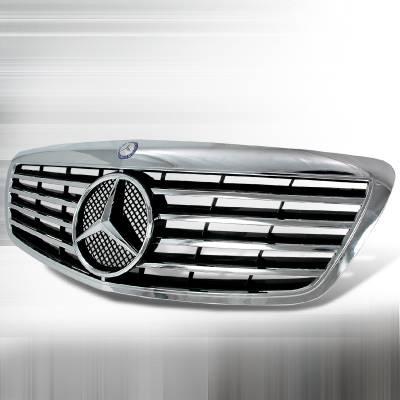 Grilles - Custom Fit Grilles - Spec-D - Mercedes-Benz S Class Spec-D Si Style Front Grille - HG-BW22106SL