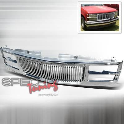 Grilles - Custom Fit Grilles - Spec-D - Chevrolet C10 Spec-D Chrome Grille - HG-C1094C-TY