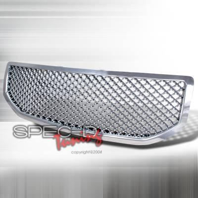 Grilles - Custom Fit Grilles - Spec-D - Dodge Caliber Spec-D Mesh Grille - Chrome - HG-CAL06C
