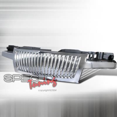 Grilles - Custom Fit Grilles - Spec-D - Chevrolet Colorado Spec-D Vertical Grille - Chrome - HG-COL04CVT