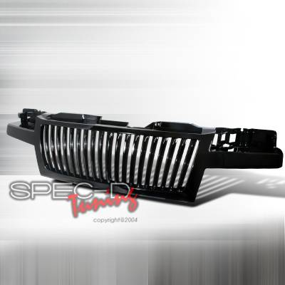 Grilles - Custom Fit Grilles - Spec-D - Chevrolet Colorado Spec-D Vertical Grille - Black - HG-COL04JMVT
