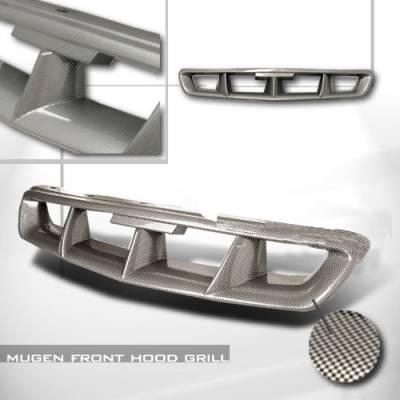 Grilles - Custom Fit Grilles - Spec-D - Honda Civic Spec-D Mugen Style Front Hood Grille - HG-CV96CFMU