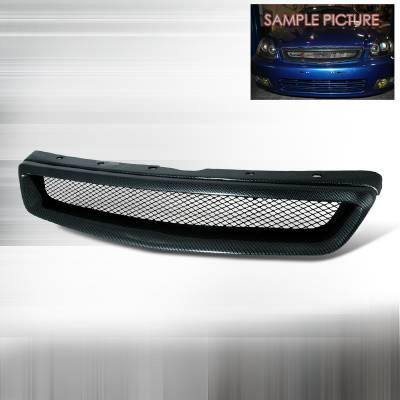 Grilles - Custom Fit Grilles - Spec-D - Honda Civic Spec-D Type R Style Front Hood Grille - HG-CV99CFTR
