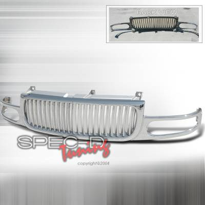 Grilles - Custom Fit Grilles - Spec-D - GMC Denali Spec-D Vertical Grille - Chrome - HG-DEN00CVT