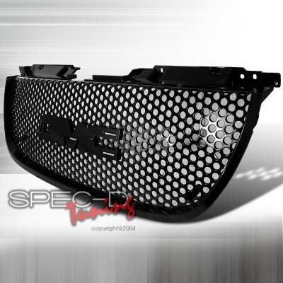 Grilles - Custom Fit Grilles - Spec-D - GMC Denali Spec-D Punch Hole Style Mesh Grille - Black - HG-DEN07JMO