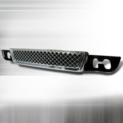 Grilles - Custom Fit Grilles - Spec-D - GMC Denali Spec-D Lower Grille - Chrome - HG-DEN07LWC