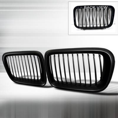 Grilles - Custom Fit Grilles - Spec-D - BMW 3 Series Spec-D Front Hood Grille - Black - HG-E3697BB