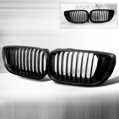 Grilles - Custom Fit Grilles - Spec-D - BMW 3 Series 4DR Spec-D Front Hood Grille - Black - HG-E4602BB