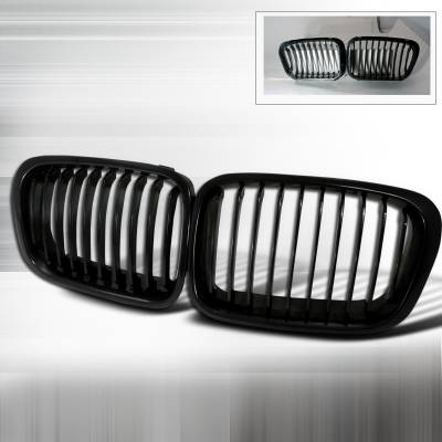 Grilles - Custom Fit Grilles - Spec-D - BMW 3 Series 4DR Spec-D Front Hood Grille - Black - HG-E4699BB