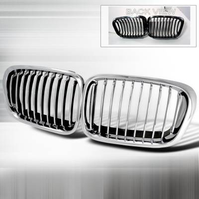 Grilles - Custom Fit Grilles - Spec-D - BMW 3 Series 4DR Spec-D Front Hood Grille - Chrome - HG-E4699CC