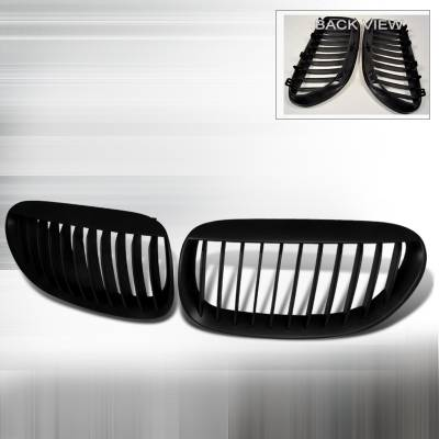 Grilles - Custom Fit Grilles - Spec-D - BMW 6 Series Spec-D Front Hood Grille - Black - HG-E6305BB