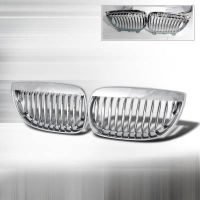 Grilles - Custom Fit Grilles - Spec-D - BMW 1 Series Spec-D Front Hood Grille - Chrome - HG-E8708CC