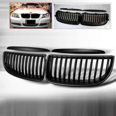Grilles - Custom Fit Grilles - Spec-D - BMW 3 Series Spec-D Front Hood Grille - Black - HG-E9005BB