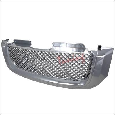 Grilles - Custom Fit Grilles - Spec-D - GMC Envoy Spec-D Front Grille - Chrome - HG-EVY02C