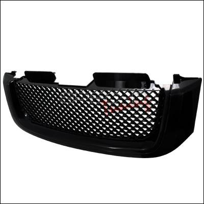 Grilles - Custom Fit Grilles - Spec-D - GMC Envoy Spec-D Front Grille - Black - HG-EVY02JM