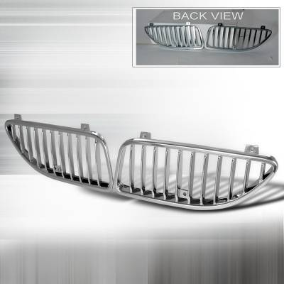 Grilles - Custom Fit Grilles - Spec-D - Pontiac Grand Am Spec-D Vertical Grille - Chrome - HG-GAM99CVT