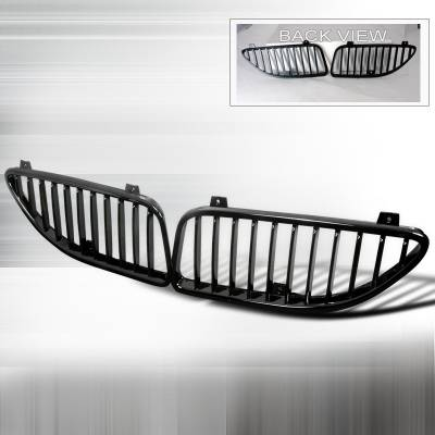 Grilles - Custom Fit Grilles - Spec-D - Pontiac Grand Am Spec-D Vertical Grille - Black - HG-GAM99JMVT