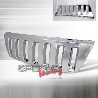 Grilles - Custom Fit Grilles - Spec-D - Jeep Grand Cherokee Spec-D Vertical Grille - Chrome - HG-GKEE99CVTH2