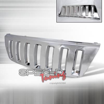Grilles - Custom Fit Grilles - Spec-D - Jeep Grand Cherokee Spec-D Vertical Grille - Chrome - HG-GKEE99CVTH2
