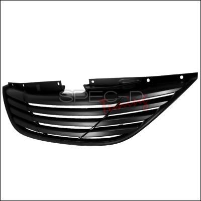 Grilles - Custom Fit Grilles - Spec-D - Hyundai Sonata Spec-D Front Grille - Black - HG-SON10JM-GL
