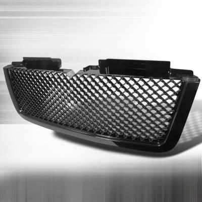 Grilles - Custom Fit Grilles - Spec-D - Chevrolet Trail Blazer Spec-D Mesh Grille - Black - HG-TBLZ06LTJM