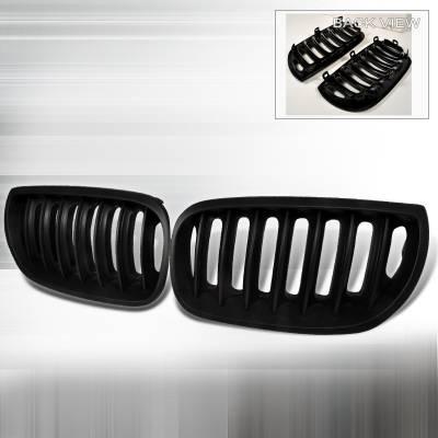 Grilles - Custom Fit Grilles - Spec-D - BMW X3 Spec-D Hood Grille - Black - HG-X304BB